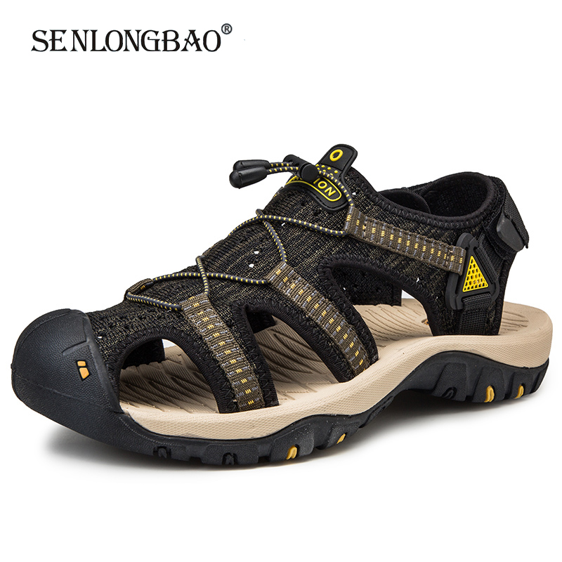 Brand New Summer Men Sandals Fashion Design Breathable Mesh Casual Beach Shoes Men Soft Bottom Outdoor Sandals Big Size 38-48