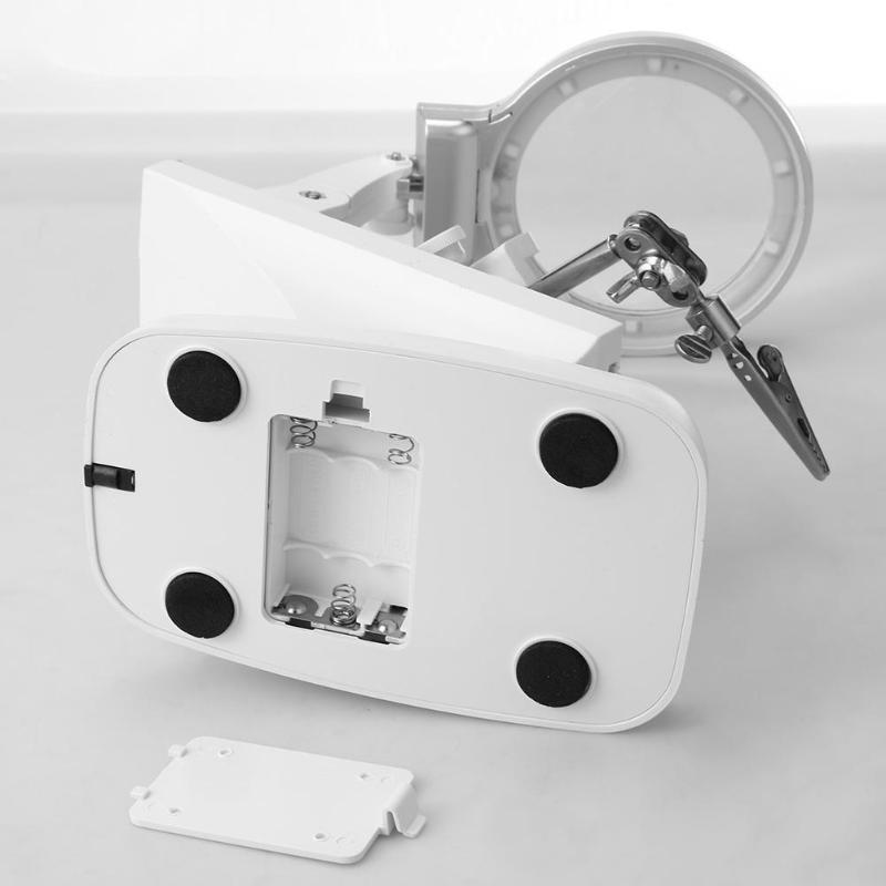 lente auxiliar clipe lupa desktop terceira mão ferramenta reparo soldagem