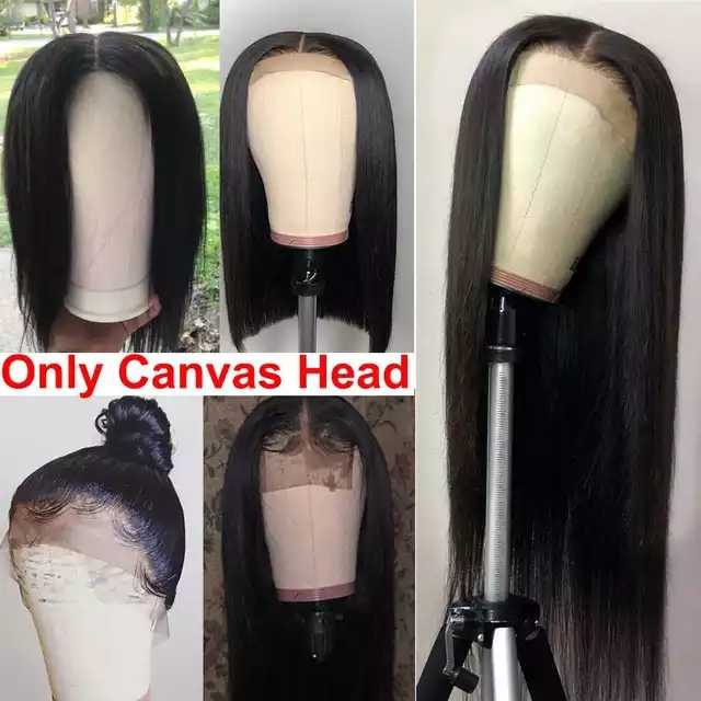 Canvas Head Wig Stand Mannequin Head Wig Holder For Women Make Wigs Maniquin Head Hair Hanger Manikin Head For Wigs Head Stand