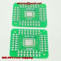 DHL/EMS 300 piezas SMD MLP QFN56 QFN64 0 5mm a DIP56 DIP64 CI 2 54mm PCB Adaptador convertidor  PCB Connector A6 Accesorios de batería y accesorios de cargador     -