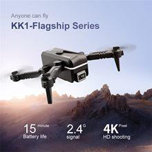 Novo 2021 kk1 mini drone 4k hd único/câmera dupla wifi fpv pressão de ar altitude dobrável quadcopter kk1 zangão brinquedo presente do miúdo