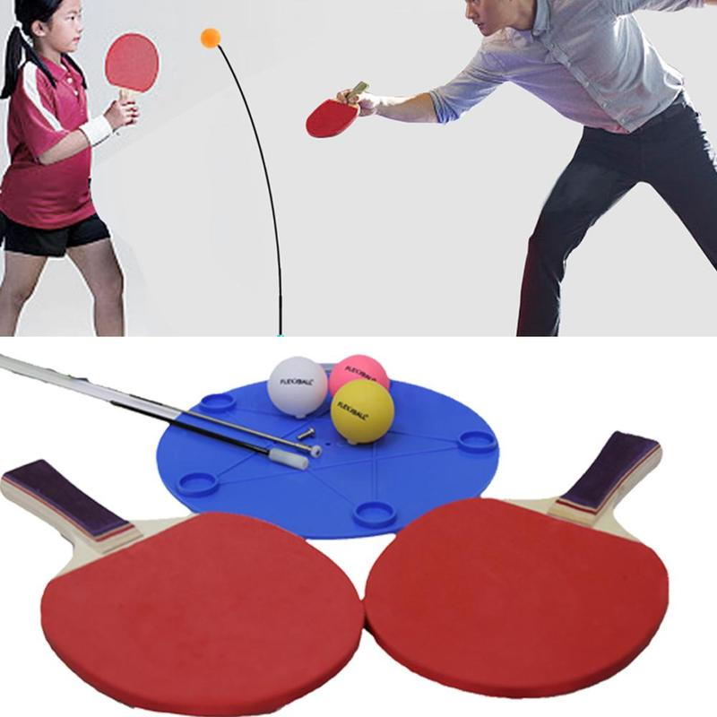1 PCS Table Tennis Trainer Table Tennis Soft Shaft Training Machine Elasticity Kid Adult Ping Pong Practice Trainer Equipment