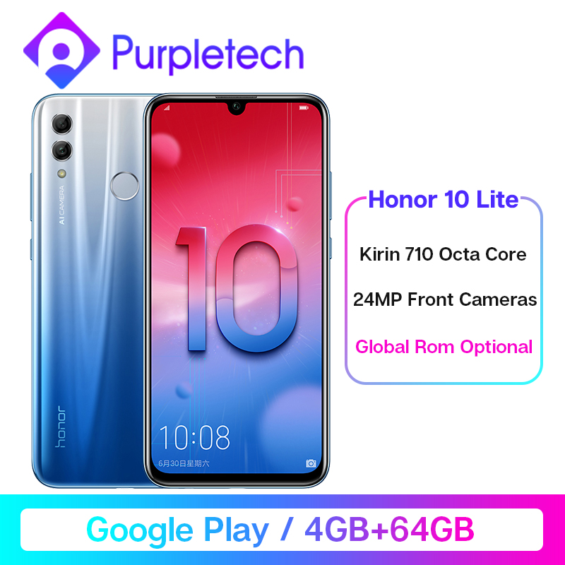 Global ROM Honor 10 Lite Smartphone 4GB /64GB Kirin 710 Octa Core 6.21