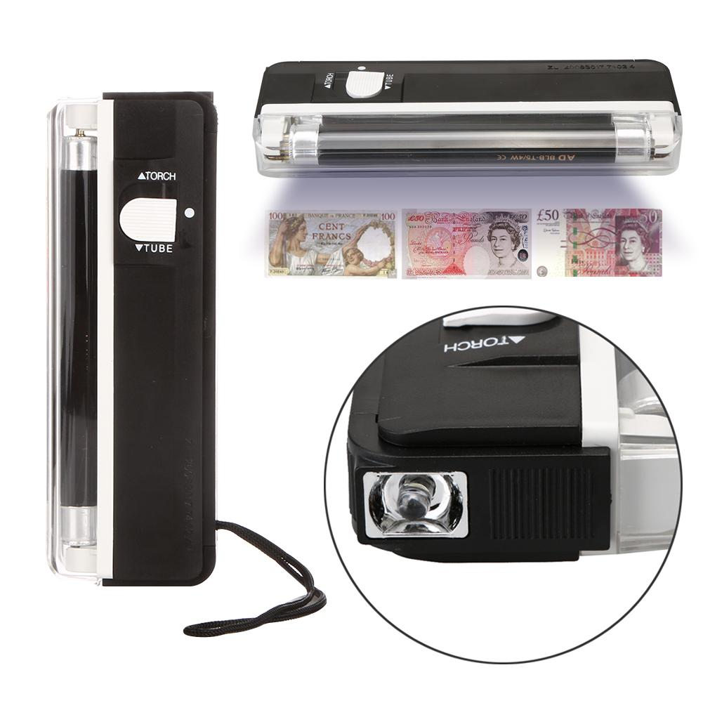 2in1 Handheld UV Led Light Torch Lamp Counterfeit Currency Money Detector