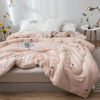 Klimatyzator wygodne ciepłe kołdry styl japoński bawełna Infiiling Jersey kołdra pocieszyciel nowy projekt zima gruby pocieszyciel tanie i dobre opinie 6675JJJ