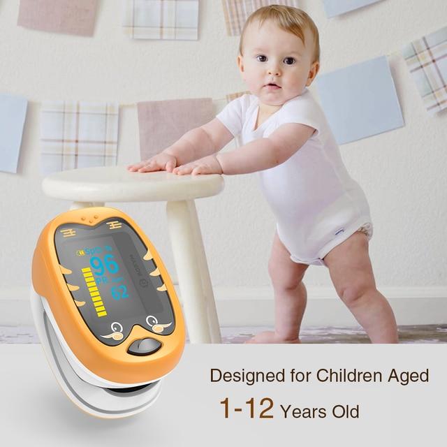 BOXYM Baby Finger Pulse Oximeter Pediatric Oximetro De Dedo SpO2 PR OLED Rechargeable Neonatal Children kids Pulsioximetro CE 3