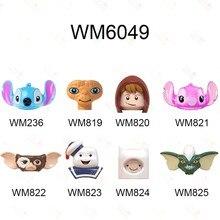 Blocs de construction dessin animé WM6049, jouets pour enfants, personnages de dessin animé, Stitch, Angie ET elliptt Gizmo