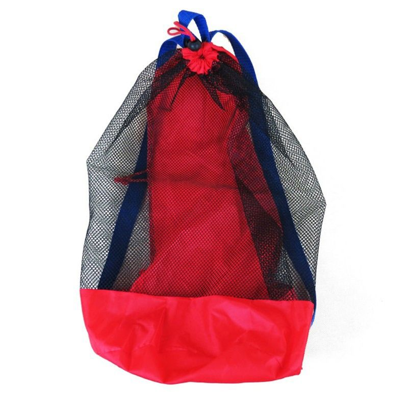 Toy Storage Mesh Bag For Kids Beach Sand Toys Water Fun Sports Bathroom Clothes Towels Backpacks Gift Q6PD