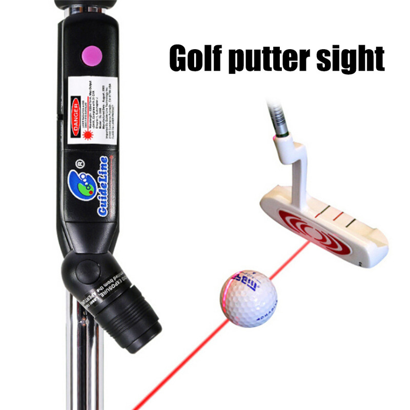 Battery Operated Golf Corrector Trainer Golf Putter Laser Sight Indoor Education Putter Targets Putt Help Practice