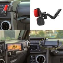 for Jeep Wrangler JK 2007 2008 2009 2010 Phone Holder Walkie Talkie Mount Bracket iPad Stand Iron Black Car Interior Accessories