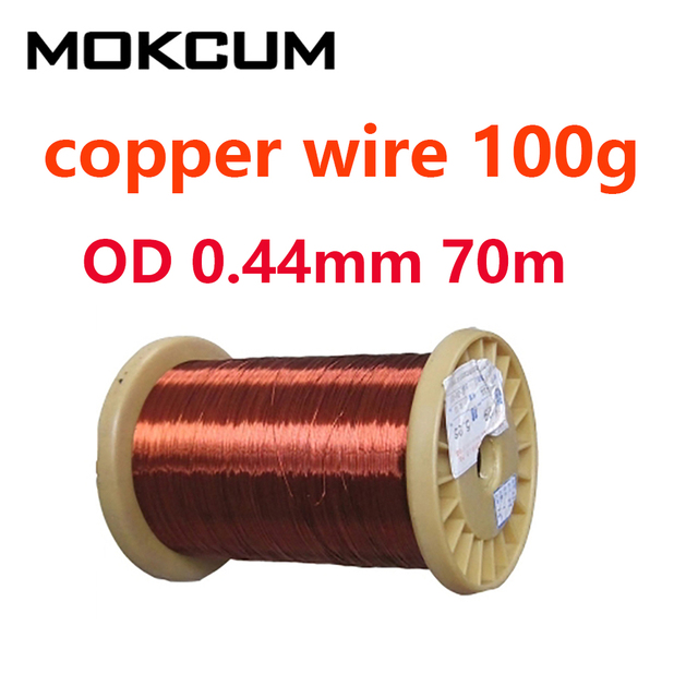 Enamelled copper wire cable diameter ø 1,25 mm coil several meters