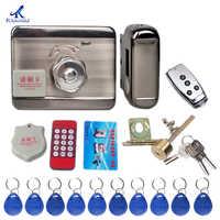 Unidad de control electrónico cerradura de puerta Tarjeta de inducción cepillado y cerradura de cepillado de tarjeta magnética para casa de alquiler