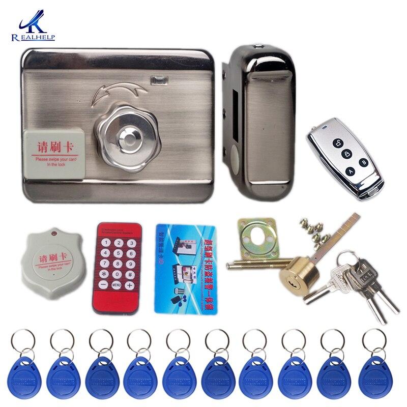1000 ให้คะแนนอิเล็กทรอนิกส์ประตูล็อคระยะไกลสมาร์ท RFID การ์ดชุด Home Security SYSTEM ระบบ