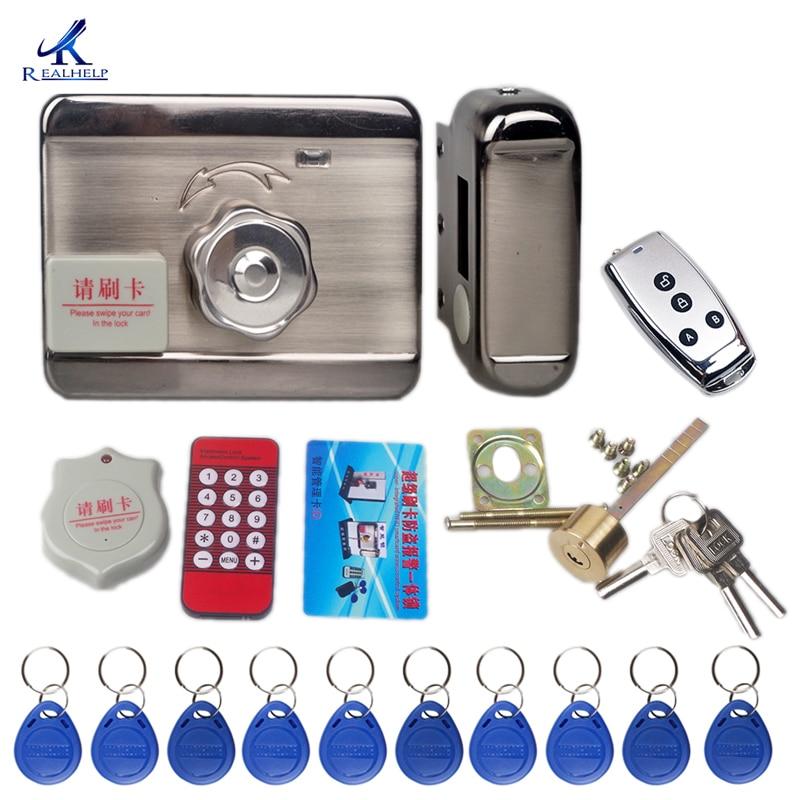 1000Users Keyless Electronic Door Lock Swipe Card LOCK Remote Control Lock Key Swipe Locks With ID Card Reader