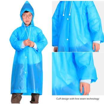 TIOODRE EVA Non-Disposable Raincoat Anti-Epidemic Suit Unisex Environmental Poncho For Adult Children Anti-Epidemic Foldable New tanie i dobre opinie