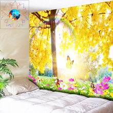 Rainbow Butterfly Decorative Psychedelic Tapestry Flowers Mandala Wall Hanging Hippie Trees Boho Bedroom Livingroom Dorm Decor