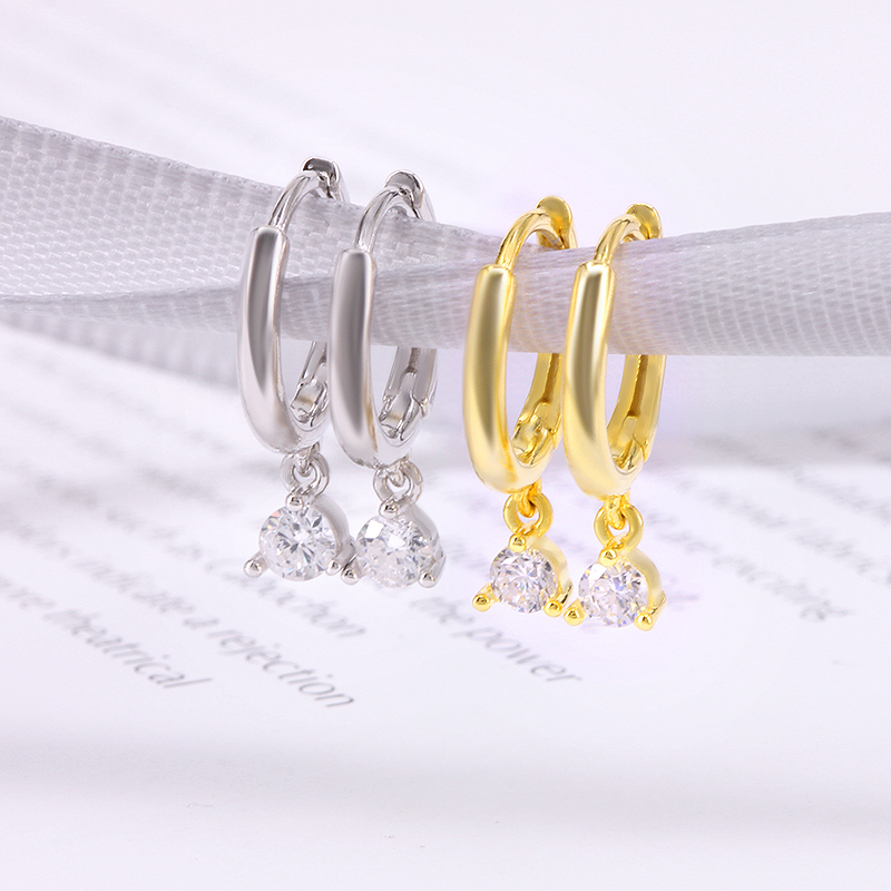 CANNER CZ Crystal Small Hoop Earrings 925 Sterling Silver Circle Earrings for Women Gold Color Huggie Earings 2019 Jewelry H40