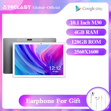 Teclast M30 tablet da 10.1 pollici android 8.0 4GB di RAM 128GB di ROM 2560x1600 IPS MT6797X Deca Core dual Camera usb OTG WIFI tablet GPS