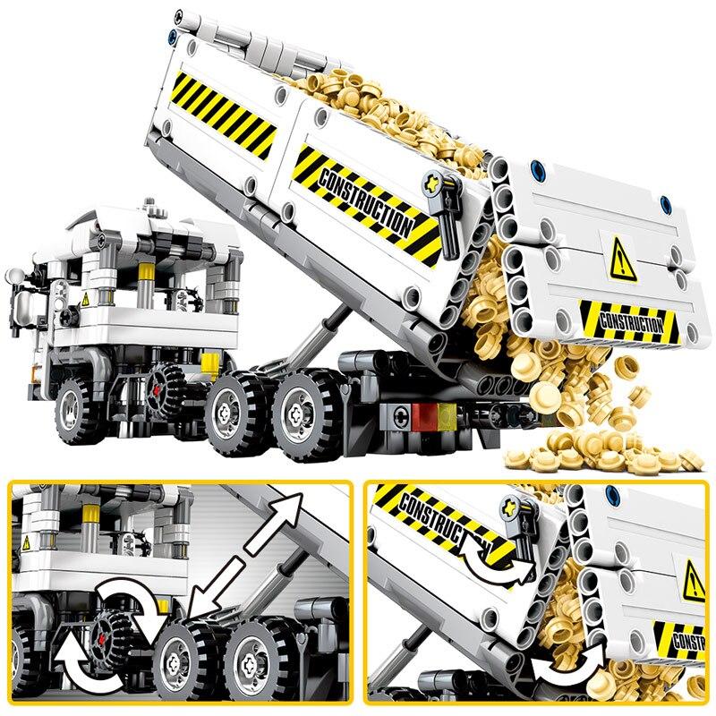 2020 NEW SEMBO 799pcs City Truck Building Blocks Legoingly Technic Car Mechanical Earthmoving Vehicle Bricks Toys for Children 2