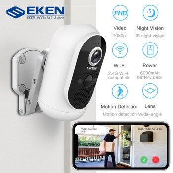 EKEN Argus 1080P Wifi Battery Camera IP65 weatherproof Motion Detection IR Night Vision Wireless IP Camera