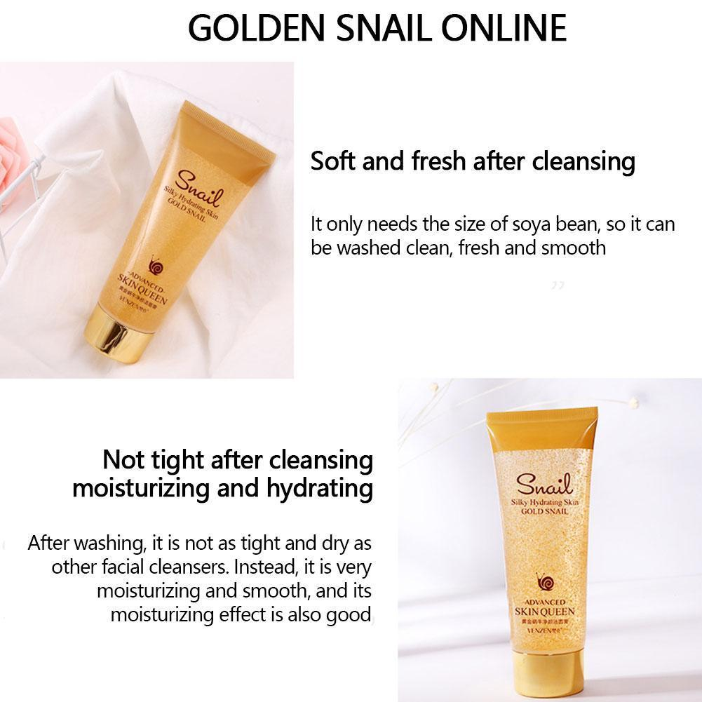 Gold Snail Cleanser Moisturizing Cleaning Pores Product For Sensitive Control Face Remove Washing Blackheads Skin Oi T1O7 image