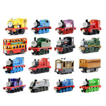 Zhenwei Diecast  Magnetic Thomas Train Wooden Track Car Children's Vechile Early Learning Toy Cake Decoration Action Figure zhenwei magnetic thomas train wooden track car children s puzzle early learning toy cake decoration diecast train action figure