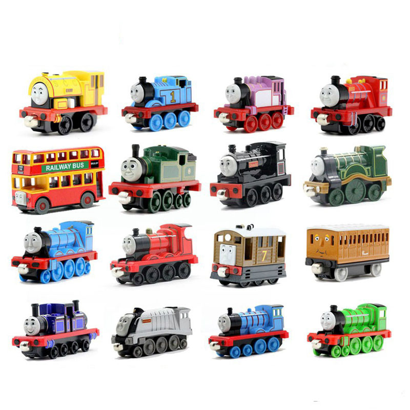 Zhenwei Diecast Magnetic Thomas Train Wooden Track Car Children's Vechile Early Learning Toy Cake Decoration Action Figure