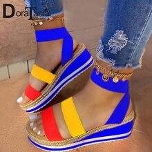 DORATASIA 2020 Wolesale Lady Platform Sandals Fashion Wedges Gladiator