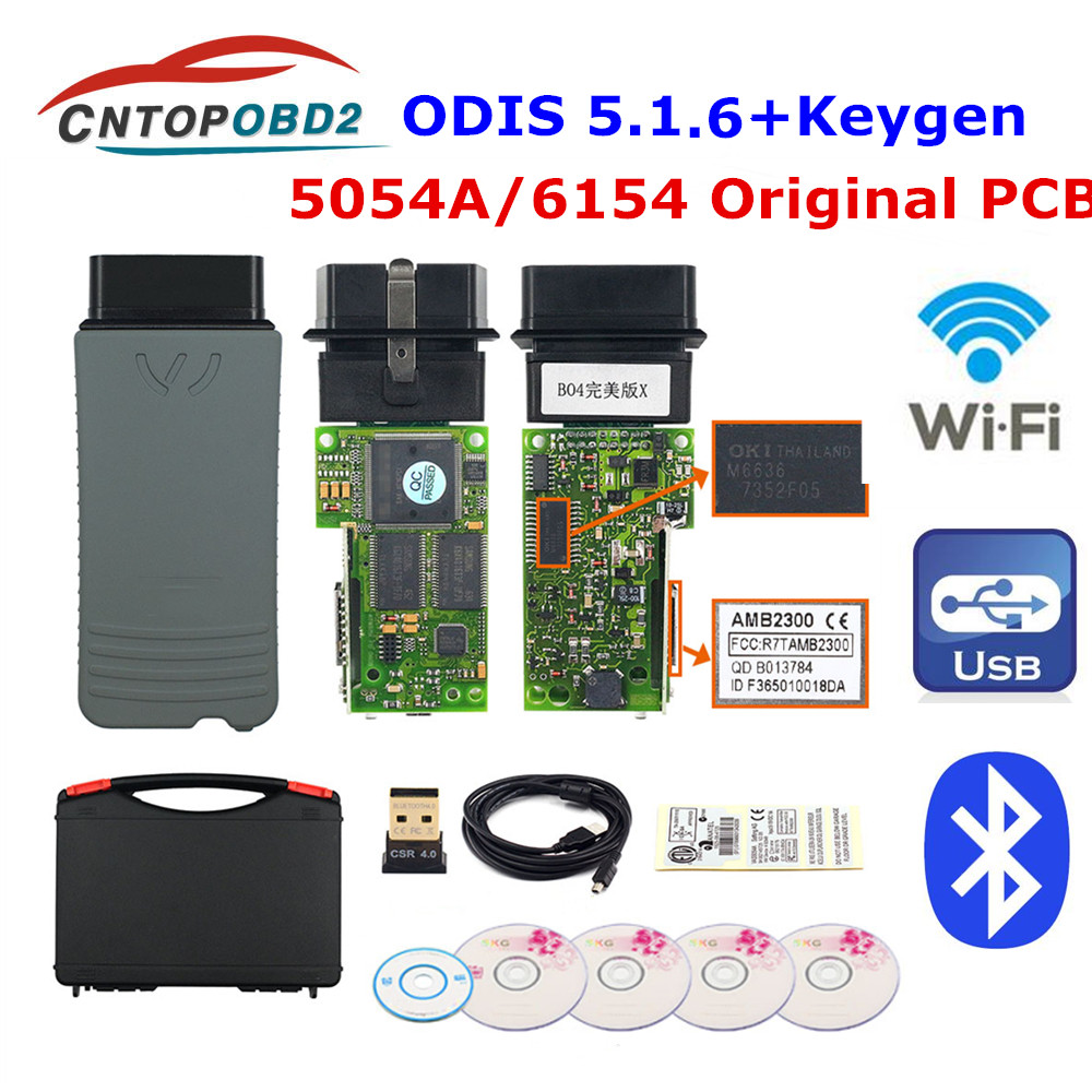 Original 5054A ODIS V5 1 6 Free keygen Full OKI Chip AM2300 5054 A  Bluetooth Support UDS 6154 For VAG OBD2 Car Diagnostic Tool