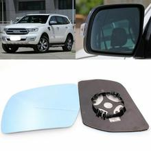 цена на For Ford Everest 2016-2017 Side View Door Mirror Blue Glass With Base Heated