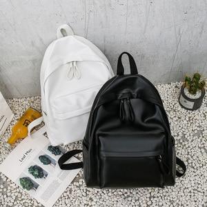 Image 5 - College Leather Backpack Women Multi Pocket Big Travel Backpacks Female School Bag for Teenage Girls Book Mochilas XA503H