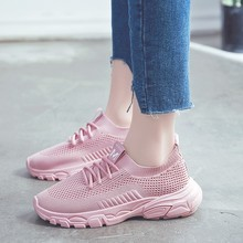 Hot Sale Fashion 2019 Casual Shoes Woman Summer Comfortable Breathable Mesh Flats Female Pink Sneakers For Girl D0008 стоимость