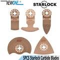 NEWONE 5 шт./компл. твердосплавные пилы STARLOCK Starlock для электроосциллирующих инструментов для резки керамической плитки или полировки древесины ...