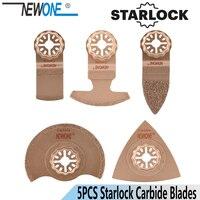 NEWONE 5pcs/set Carbide Saw Blades STARLOCK Starlock for Power Oscillating Tools for Cut Ceramic Tile or Polish Wood Ceramic|Power Tool Accessories| |  -