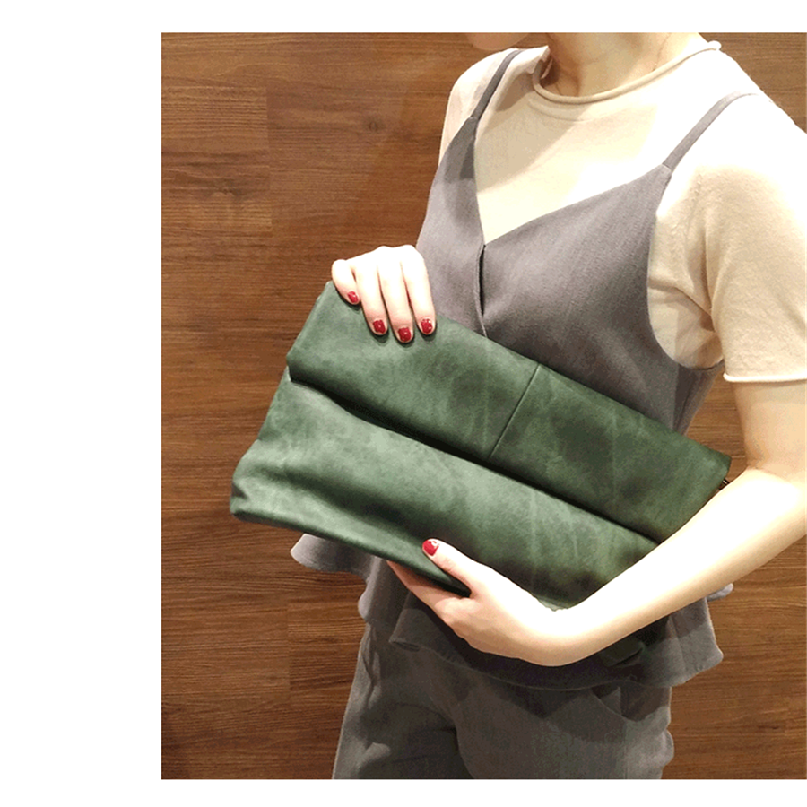 day clutches handbags female crossbody  large capacity brief joker shoulder bag soft leather envelope Soft skin women bag