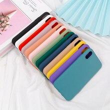 Silikon Einfarbig Fall für iPhone 11 8 Plus 7 6 6S Weiche Abdeckung candy Telefon Fällen für iPhone XS 11 Pro MAX XR X XS Max