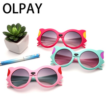 2019 New Kids Polarized Sunglasses Girls Brand Cat Eye Children Glasses Boys UV400 Lens Baby Sun glasses For