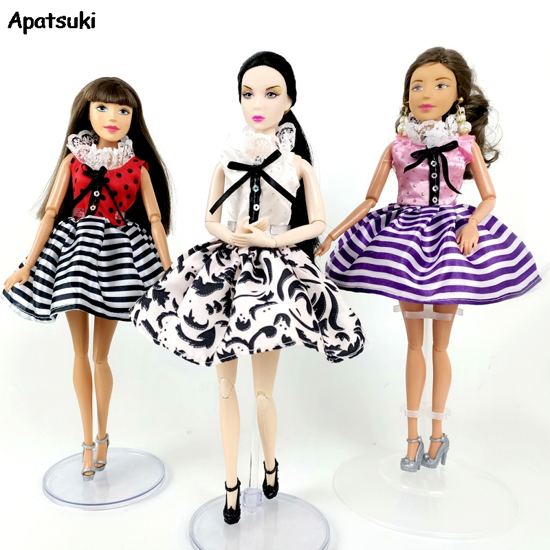 """3pcs Doll Pants Gown Trousers Fashion Handmade Clothes Set For 11.5/"""" Dolls 1//6"""