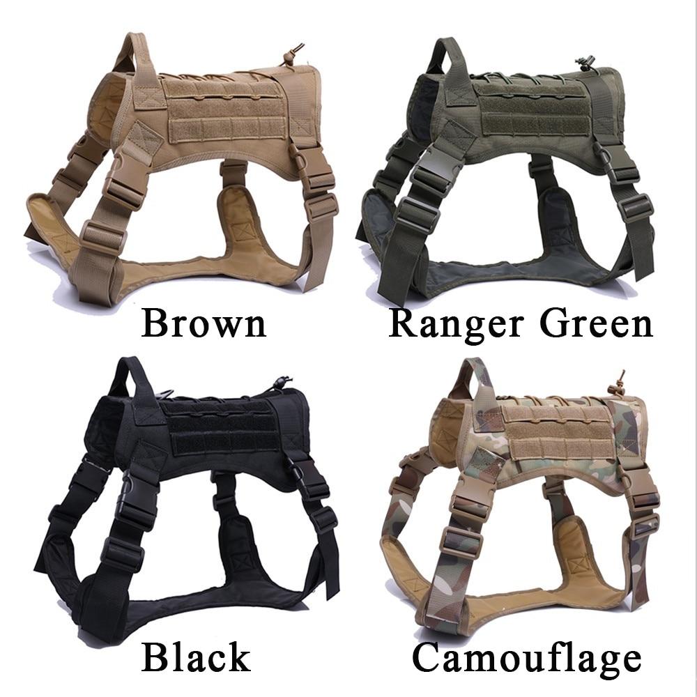 Imbracatura per cani tattica Training Molle System Vest Set di imbracature e guinzagli per cani da compagnia per cani di taglia medio-piccola 2