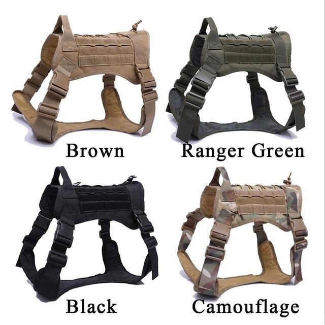 Tactical Dog Harness Training Molle System Vest Pet Dog Slingshot Harness And Leash Set For Small Medium Big Dogs 2
