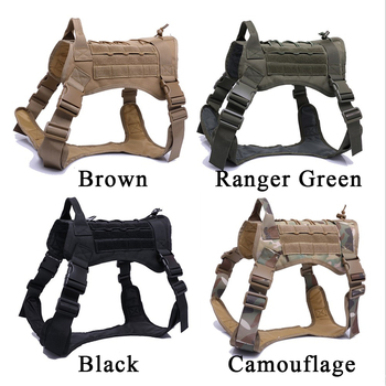Military Tactical Dog Harness German Shepherd Pet Dog Vest With Handle Nylon Bungee Dog Leash Harness For Small Large Dogs Puppy 1