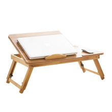 Bamboo foldable laptop table small table folding lifting desk bed side small table study desk kids breakfast table