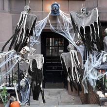 100cm Skull Halloween Hanging Ghost Haunted House Grim Reaper Horror Props Home Door Bar Club Decorations deco