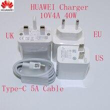 Оригинальное быстрое зарядное устройство Huawei mate30 pro Supercharge USB 10 в 4A 40 Вт адаптер 5a кабель Type C для Magic 2 mate 20 30 pro P20 P30 pro