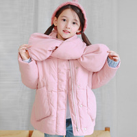 Girls Cotton Clothing Winter Children's Cotton Clothing Child Plus Thick Cotton Coat Family Matching Outfits with Neck