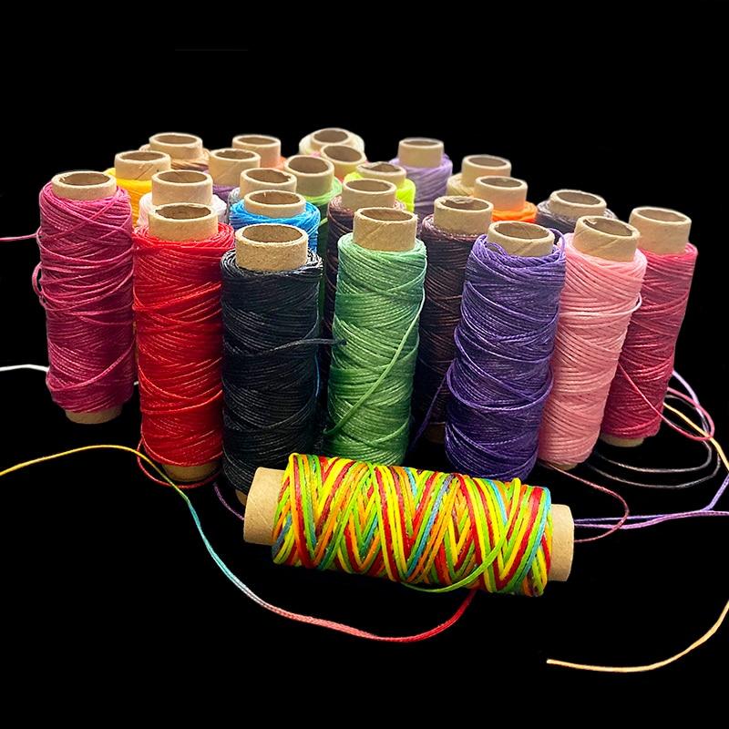 70m//Roll Waxed Cotton Cord DIY Jewellery Leatherraft Making Thread 0.8mm Pink