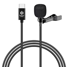 Besegad Mini Clip On Lavalier Revers Microfoon Microfon Mic Met Usb Type C Interface Voor Voice Chat Video opname Interview