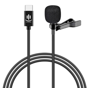 Image 1 - Besegad Mini Clip on Lavalier Lapel Microphone Microfon Mic with USB Type C Interface for Voice Chat Video Recording Interview