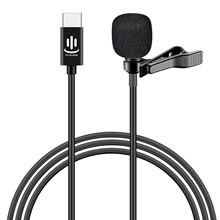 Мини микрофон Besegad с отворотом, нагрудный микрофон с разъемом USB Type C для голосового общения, видеосъемки, интервью