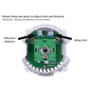 Image 4 - Coswallクリスタル強化ガラス白パネル人体モーションセンサー壁スイッチ調整可能な時間遅延と誘導距離